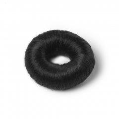 Čierna vlasová vypchávka vyrobená zo syntetických vlasov. Priemer 7 4c5868010fe